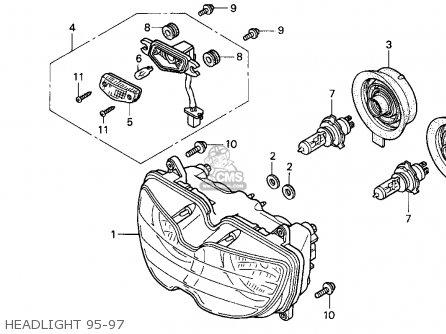 Honda Cbr900rr 1997 (v) Usa California parts list