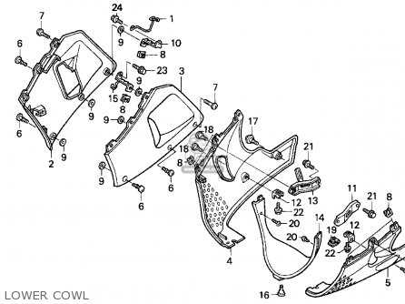 Honda CBR900RR 1997 (V) USA CALIFORNIA parts lists and