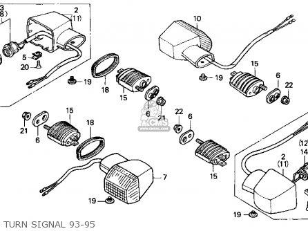 Honda Cbr900rr Cbr 1993 Usa parts list partsmanual partsfiche