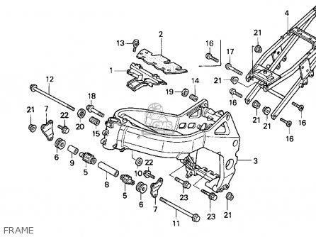 Honda Cbr900rr Cbr 1994 Usa parts list partsmanual partsfiche