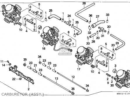 Honda Cbr900rr Fire Blade 1997 England parts list