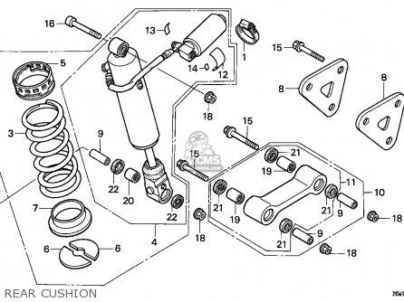 Honda Cbr900rr Fireblade 1993 (p) England parts list