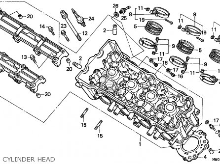 Honda Cbr900rr Fireblade 1993 (p) France parts list