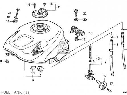 Honda Cbr900rr Fireblade 1994 (r) France parts list