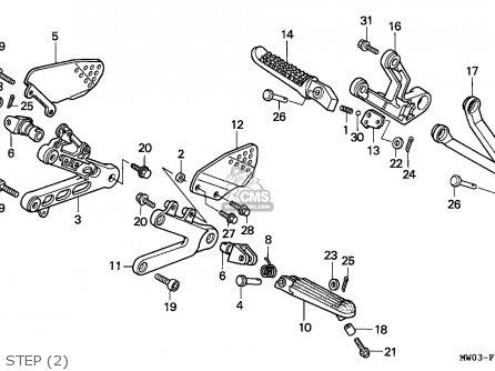 Honda CBR900RR FIREBLADE 1994 (R) ITALY parts lists and