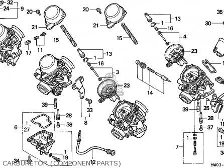 Honda Cbr900rr Fireblade 1996 (t) France parts list