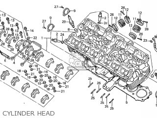Honda Cbx1000 Supersport 1979 (z) England parts list