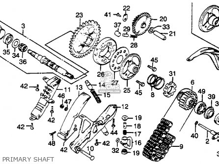 Honda Cbx1000 Supersport 1979 (z) Usa parts list