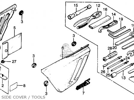 Honda Cbx1000 Supersport 1979 (z) Usa parts list