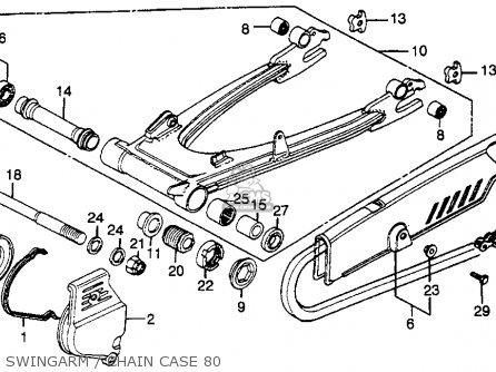 Honda Cbx1000 Supersport 1980 (a) Usa parts list