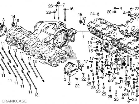 Honda CBX1000 SUPERSPORT 1981 (B) USA parts lists and