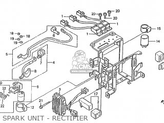 Honda Cbx1000 Supersport 1982 (c) Australia parts list