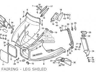 Honda CBX1000 SUPERSPORT 1982 (C) FRANCE parts lists and