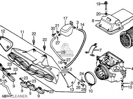Honda Cbx1000 Supersport 1982 (c) Usa parts list