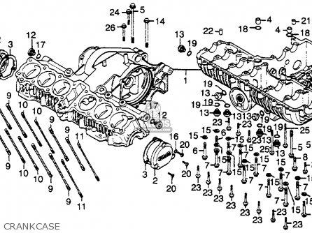 Honda Cbx1000a Super Sport 1980 Usa parts list partsmanual