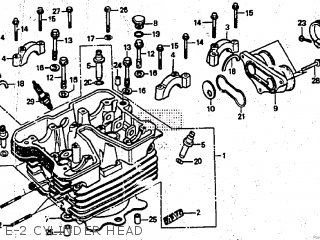 Honda CBX250RS 1984 (E) ENGLAND parts lists and schematics