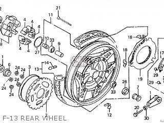 Honda CBX550F 1982 (C) parts lists and schematics