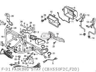 Honda CBX550F2 1982 (C) parts lists and schematics