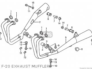 Honda CBX750F 1986 (G) parts lists and schematics