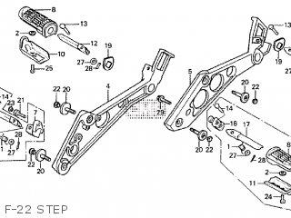 Honda CBX750F 1986 (G) parts lists and schematics