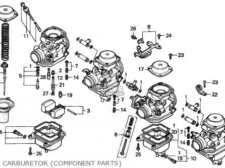 Honda Cbx Engine Exploded View, Honda, Free Engine Image