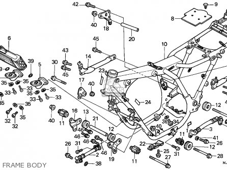 Honda Cbx750p 1984 General Export (kph) / Plb parts list