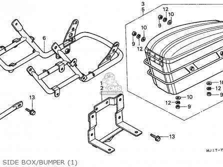 Honda Cbx750p 1987 (h) Korea parts list partsmanual partsfiche