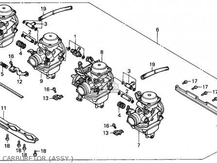Honda Cbx750p 1987 (h) Malaysia / Plr parts list