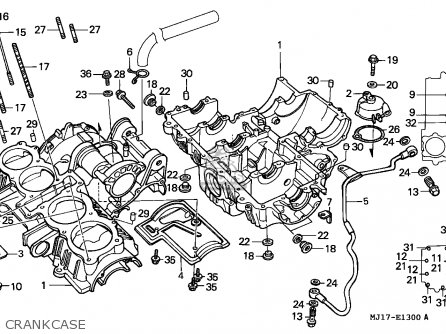 Honda Cbx750p2 1987 (h) General Export / Kph Plb parts