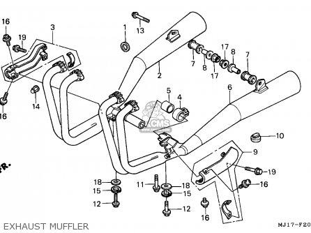 Honda CBX750P2 1990 (L) MEXICO / PLR parts lists and