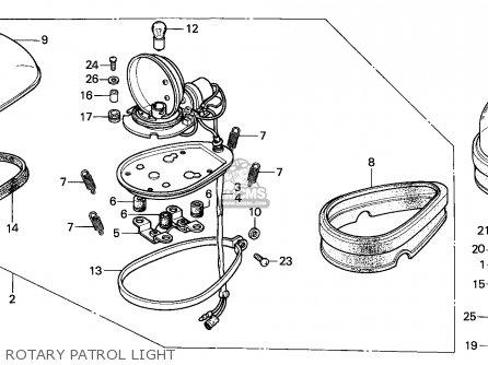 Honda Cbx750p2 1990 Mexico / Plr parts list partsmanual