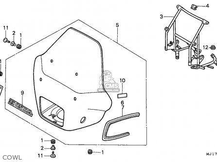 Honda CBX750P2 1996 (T) THAILAND parts lists and schematics