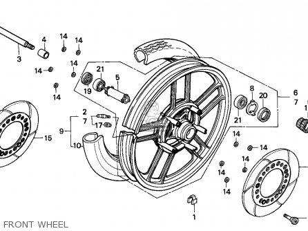 Honda CBX750P2 1997 (V) HONG KONG parts lists and schematics