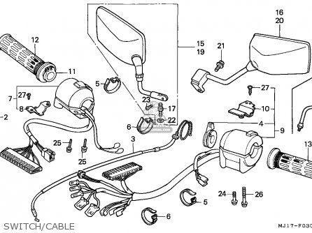 Honda CBX750P2 1998 (W) THAILAND parts lists and schematics