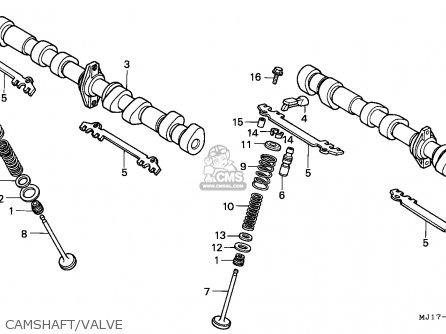 Honda CBX750P2 1998 (W) THAILAND / Y parts lists and