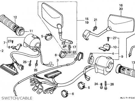Honda Cbx750p2 1998 (w) Thailand / Y parts list