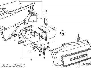 Honda CBX750P2 2001 (1) PERU parts lists and schematics