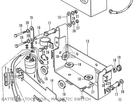 Honda CD175 A4 ENGLAND parts lists and schematics