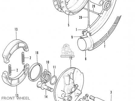Honda Cd175 A4 England parts list partsmanual partsfiche