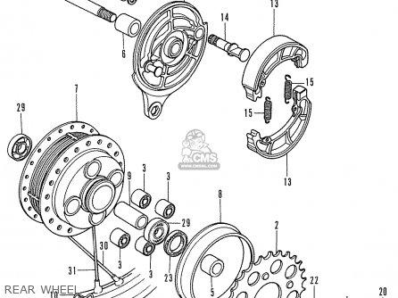 Honda CD175 A4 ENGLAND parts lists and schematics