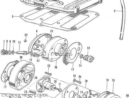 Honda CD175 AK3 GENERAL EXPORT parts lists and schematics