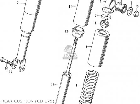 Honda Cd175 Ak3 General Export parts list partsmanual
