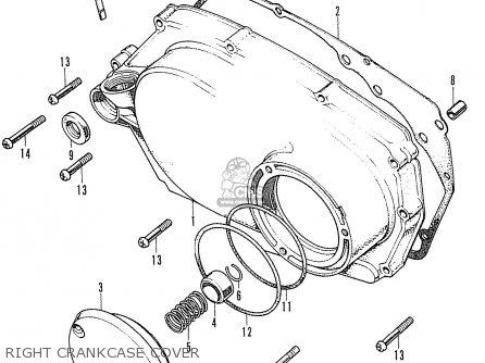 Honda Cd175 K4 Canada parts list partsmanual partsfiche