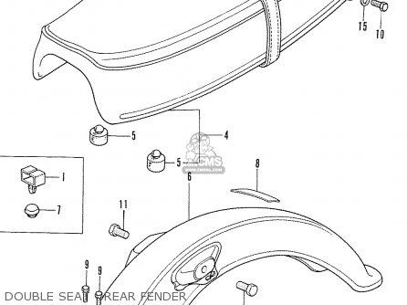 Honda Cd175 K4 General Export parts list partsmanual