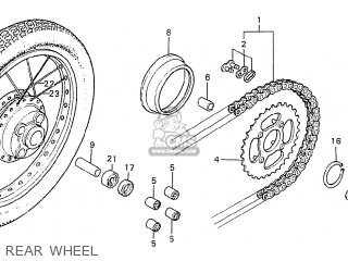 Honda Cd175 K5 Nigeria parts list partsmanual partsfiche