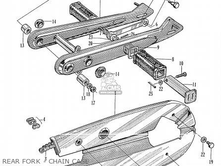 Honda Cd175a Sloper (general Export Model) parts list