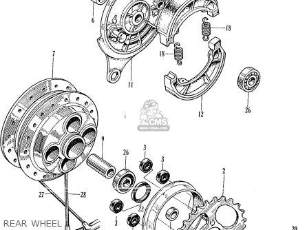 Engine Diagram For 1967 Honda 305 Scrambler 64 Honda