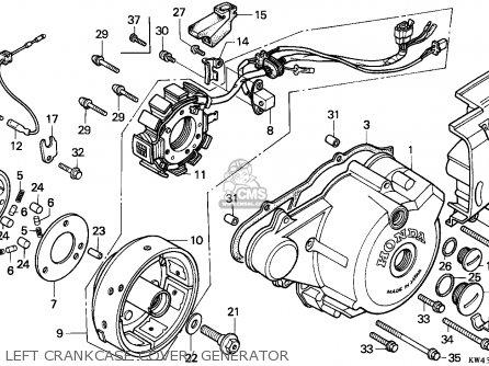 Honda Cd250u 1989 (k) England parts list partsmanual