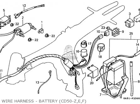 Honda Cd50 1979 (z) Japan Cd50-130 (jdm) parts list