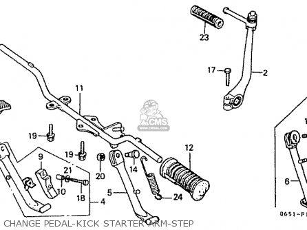 Honda Cd50 1984 (e) Japan Cd50-150 (jdm) parts list